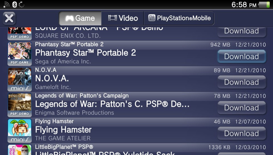 sony removes the ability to download previously unsupported psp